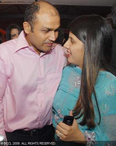 Virender Sehwag With Wife Arti in a BCCI Party
