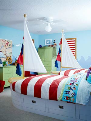 KidsRoomsSum05_McCaugheyPirateRoom_Sailboat bed frames dresser armoire