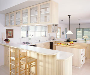 light-colored kitchen