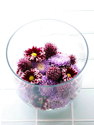 clustered chrysanthemums