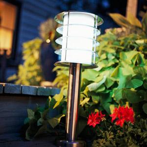 stainless steel solar post light