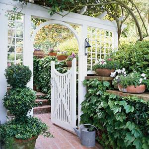 White Arbor & Gate