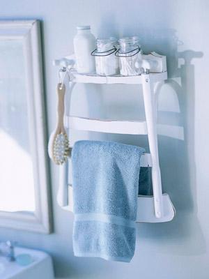 Ladder-back shelf