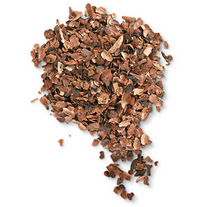 Cocoa Hull Mulch on Tile