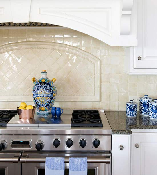 Texture and Shine Backsplash