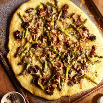 Morel And Asparagus Crispy Pizza Midwest Living
