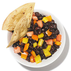 Black-Bean Salsa and Tortilla