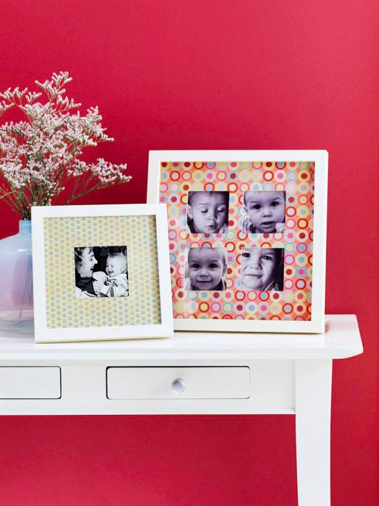 home decor, home design, scrapbook paper, DIY