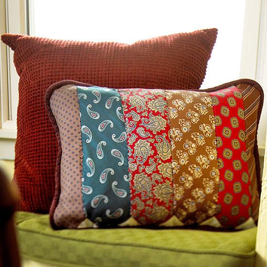 Patterned Necktie Pillow