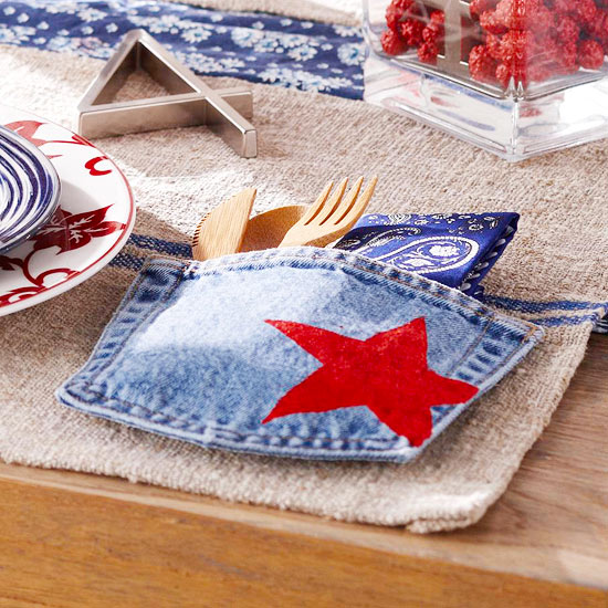 Denim Pocket Place Setting