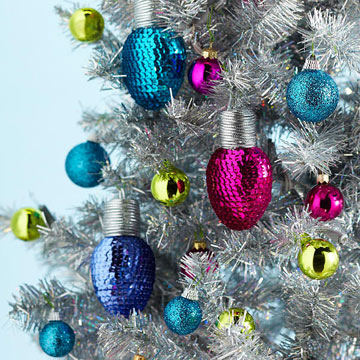 Bright Sequined Christmas Lights