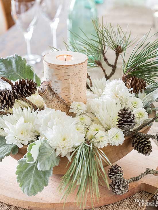 Pinecone Floral Arrangements