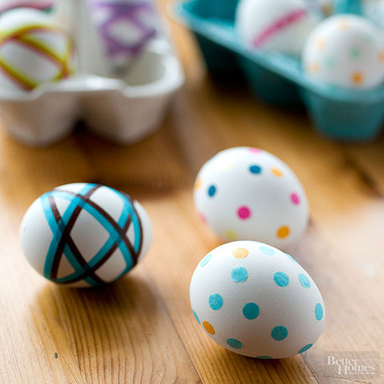 Tissue Paper Polka-Dot Eggs