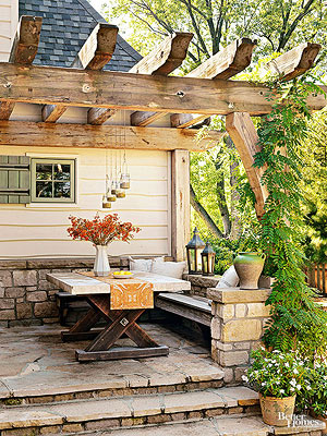 Patios  Design Ideas  Pictures and Makeovers Maximizing a Small Patio