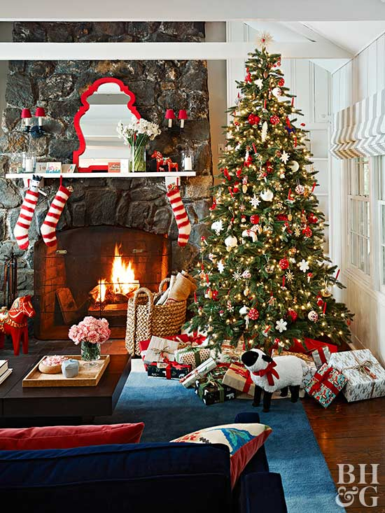 Image result for best christmas living room
