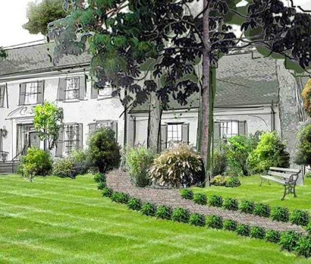 Front Yard Garden Design With Pathway