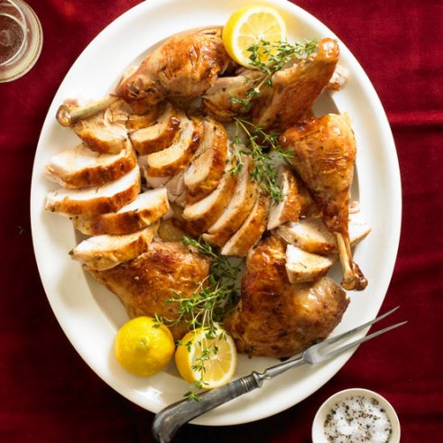 Lemon-Thyme Split-Roasted Turkey
