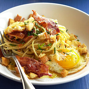 Bacon and Egg Spaghetti