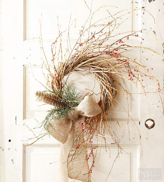 twig and berry fall wreath
