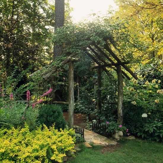 Sturdy Rustic Arbor