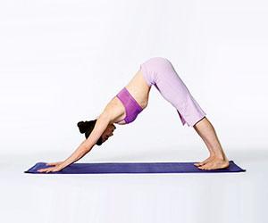 beginner yoga downward dog position, yoga