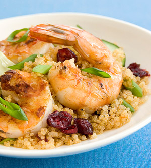 Curried Quinoa Salad with Grilled Shrimp