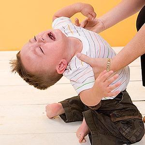 throwing temper tantrum