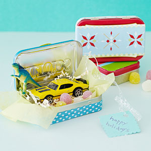Decorated Altoids tin gift box