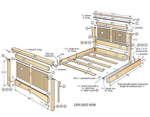 woodworking plans bed