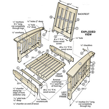 How To Build Morris Chair Plans Video Plans Woodworking