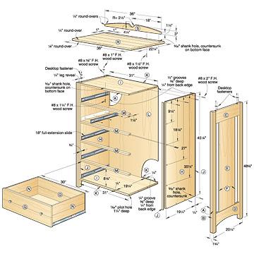 woodworking building a dresser