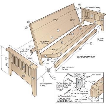 wood futon bed frame plans