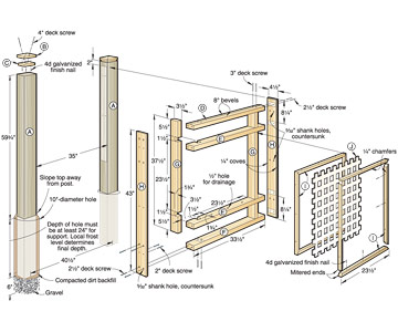 Wood Fence Plans