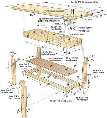 Free Wood Workbench Plans