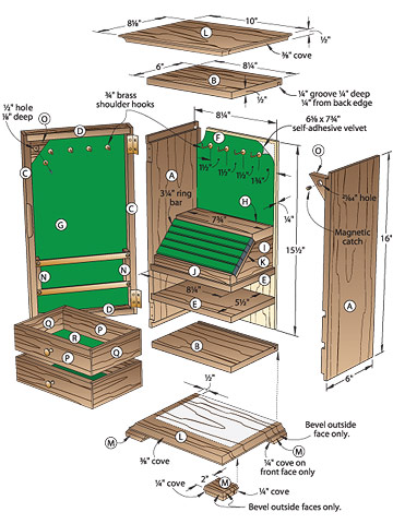How to Build Woodworking Plans Jewelry Armoire Plans ...