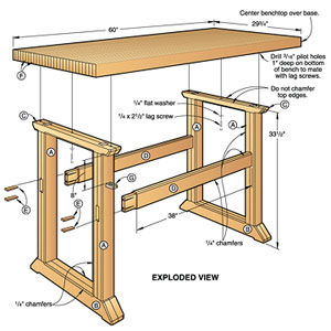 Simple-to-Build Workbench Woodworking Plan