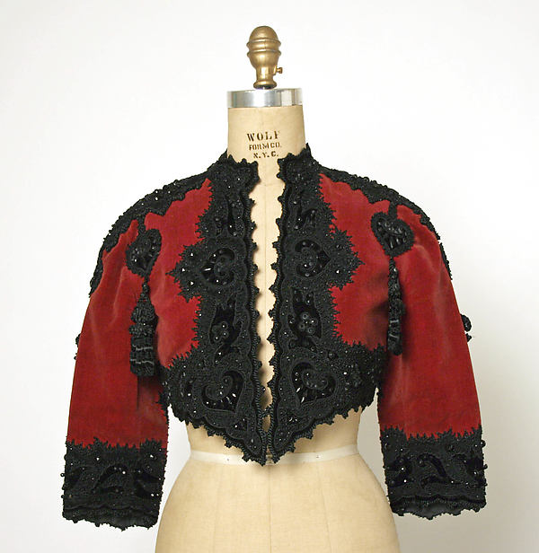 1937 Balenciaga French silk and wool beaded bolero