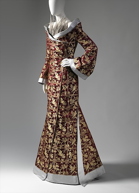 Givenchy ensemble, fall/winter 1997–98 silk, feathers, metal, synthetic; The Metropolitan Museum of Art, New York, Purchase, Friends of the Costume Institute Gifts, 2013 (2013.564a, b)