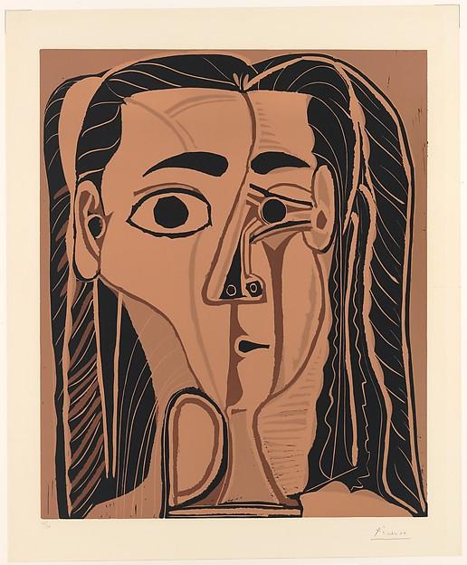Picasso, grafiek, linoleumsnede, meerkleurendruk.