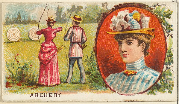 Archery, from the Games and Sports series (N165) for Old Judge Cigarettes
