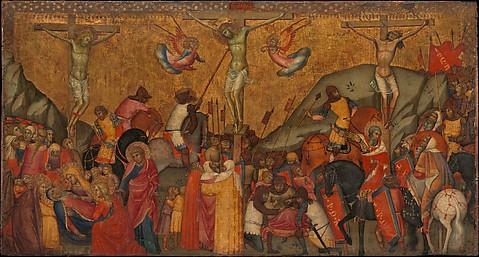 An 14th century depiction of Jesus' death by Andrea di Bartolo, Italian, Siena,