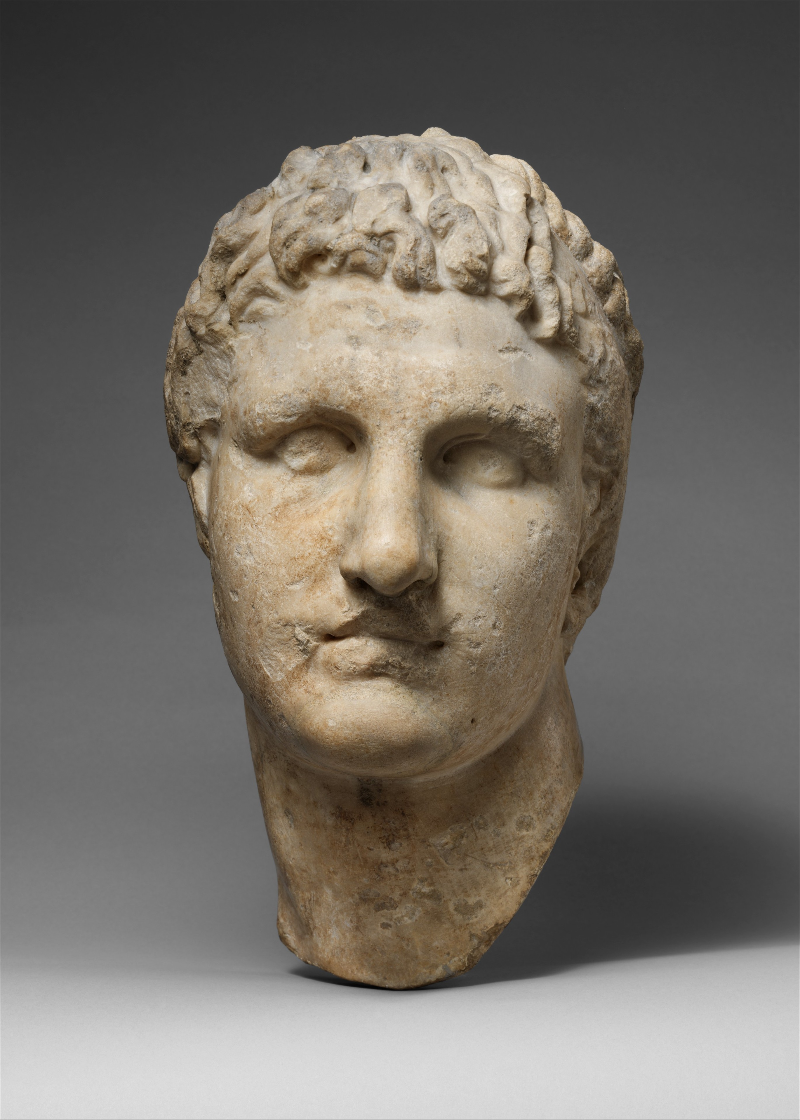 Marble Head Of A Hellenistic Ruler Roman Imperial
