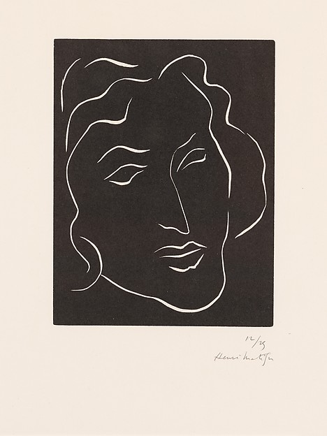 grafiek, lino, Matisse, Florentine.