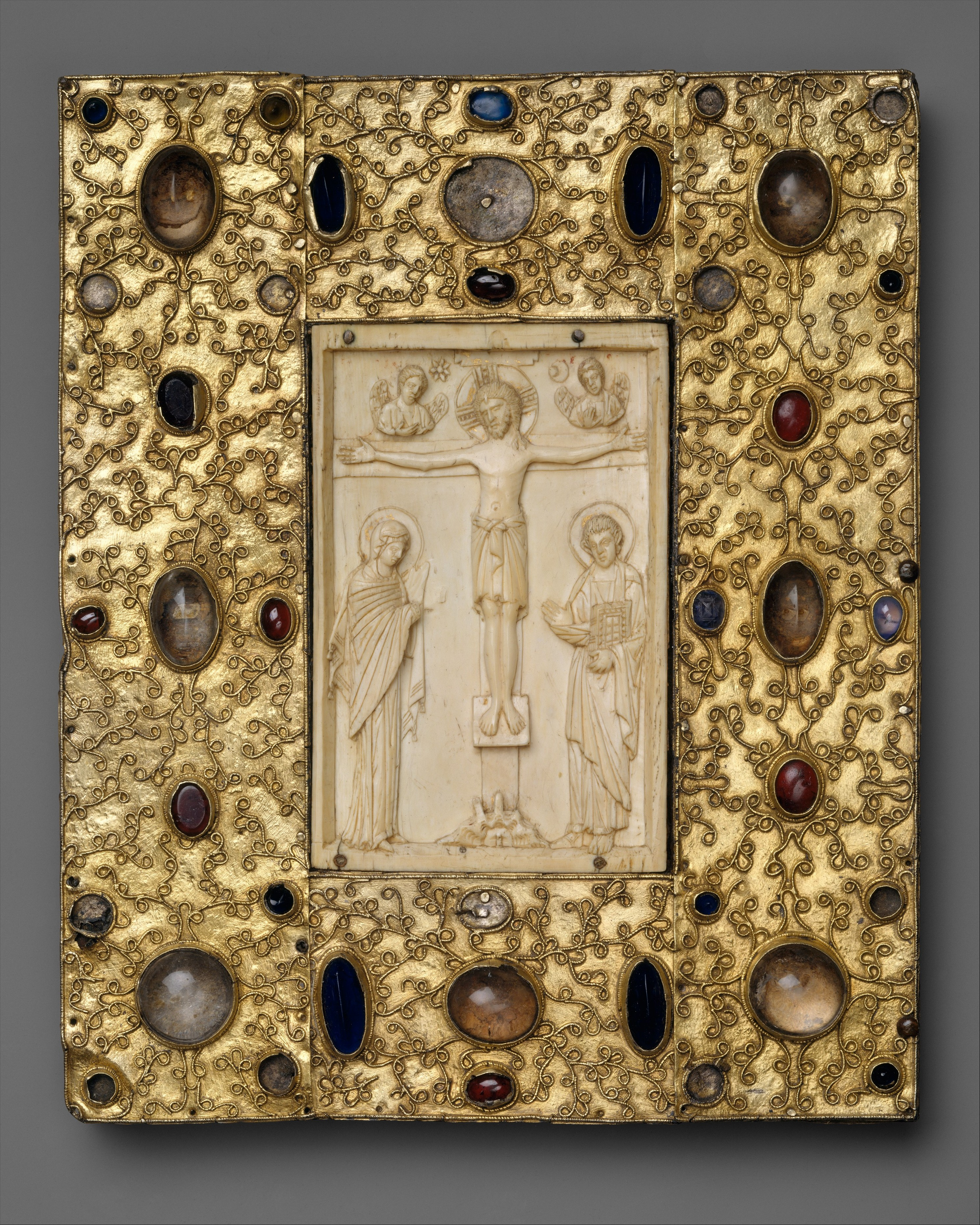 Book Cover With Byzantine Icon Of The Crucifixion