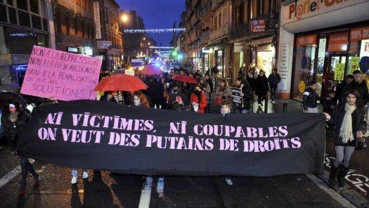 Manifestation aussi à Toulouse ce 17 décembre pour la journée de lutte contre les violence envers les travailleurs du sexe.