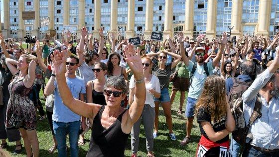 1500 à 2000 personnes mobilisées pour le climat et contre les énergies fossiles.