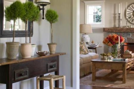 Fresh Farmhouse Design Ideas   Midwest Living Relaxed entry