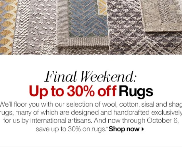 Final Weekend Up To  Off Rugs