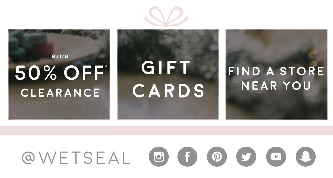 Wet seal gift card