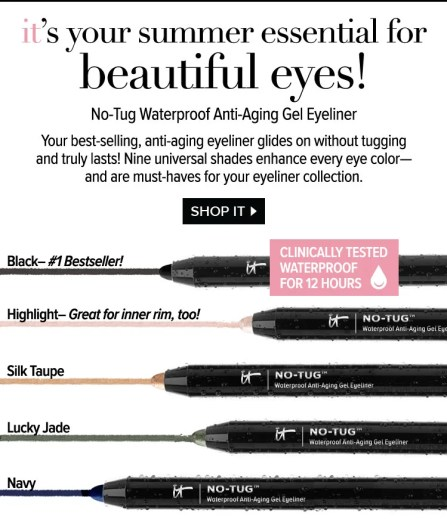 Image result for iT cosmetics no tug eyeliner